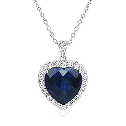 AILUOR Titanic Heart of the Ocean Neckalce, Sterling Silver Necklace Pendants Jewelry Mother's Day (Titanic Heart)