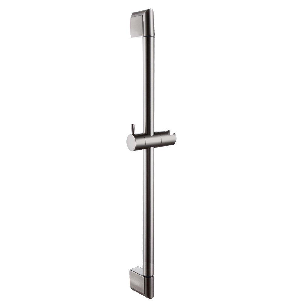KES 25-Inch Bathroom Hand Shower Slide Bar Stainless Steel Bar Adjustable Sliding Showerhead Bracket Holder Contemporary Style Wall Mount Brushed Nickel, F200-2