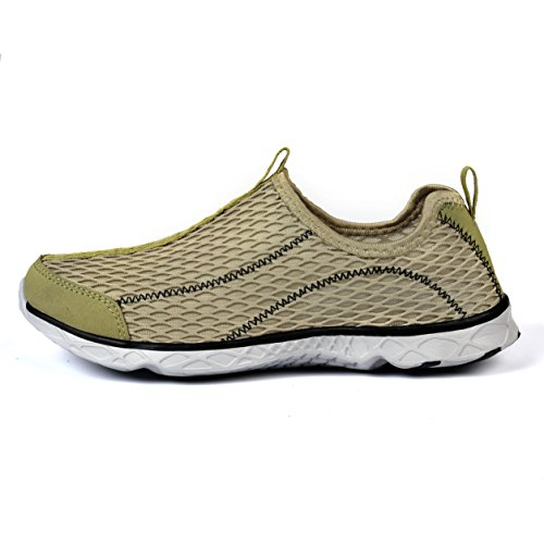 Feetmat Mens Slip auf Wasser Schuhe sportliche Wanderschuhe Gelb