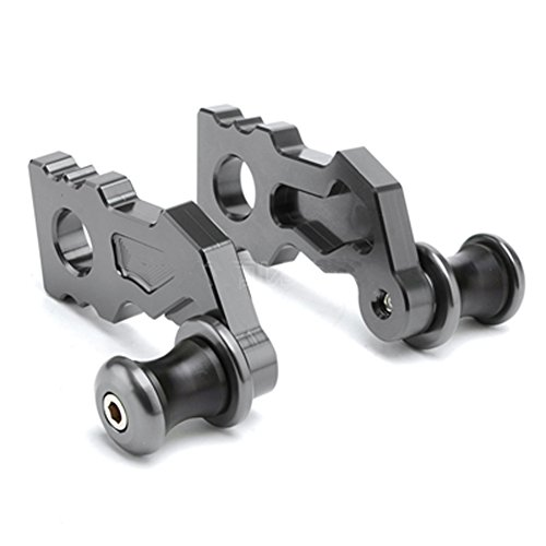 Titanium Motorcycle Axles (Titanium Motorcycle Accessories CNC Rear Axle Spindle Chain Adjuster Blocks And Spool Sliders For Kawasaki Z900 2017)