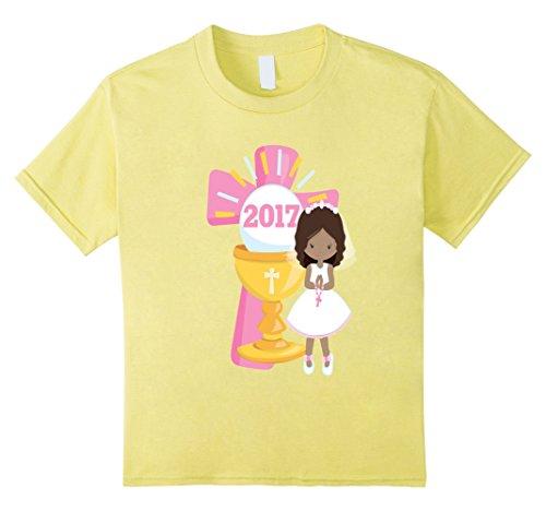 Kids First Communion Shirt Gift Pink Cross 2017 Black Gir...