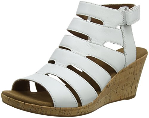 Sandali Briah Con Rockport Bianco Donna Banded White Plateau Sling YCqxw4n1T
