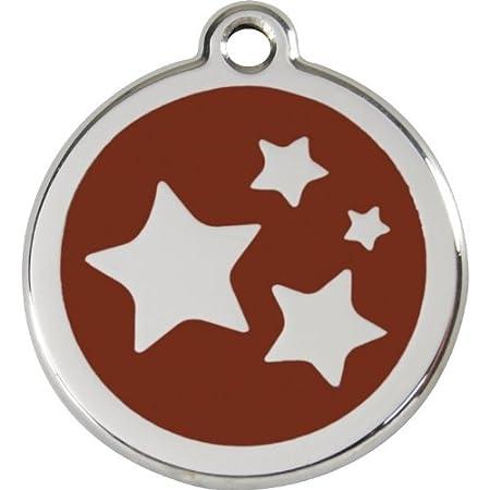 Red Dingo Médaille pour Chien Motif Etoiles Rouge 20 mm 01-ST-RE-SM 1SKRS Collier Harnais