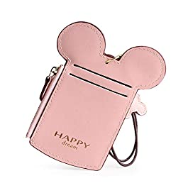 7 Colors Fashions New Leather Oyster Baby Travel Card Bus Pass Holder Wallet Rail Card Cover Case (Pink)