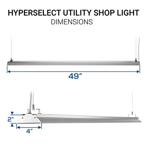 HyperSelect-LED-Shop-Lights-4ft-Garage-Utility-LED-Light-Integrated-Fixture-35W-100W-Eq-DLC-42-Clear-Cover