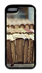 iPhone 5C Case and Cover - Library Books TPU Case Cover For iPhone 5C - Black