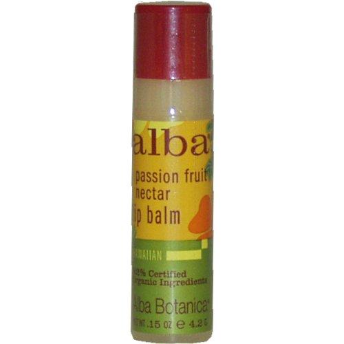 Alba Botanica Hawaiian Lip Balm, Passion Fruit Nectar, 0.15-Ounce Tubes (Pack of 24)