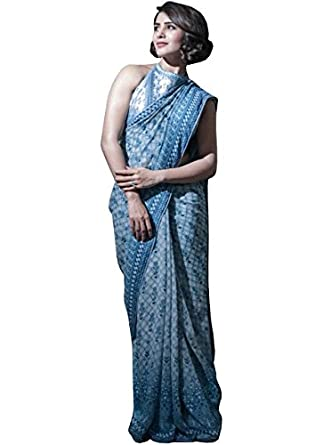 Matindra Enterprise Womens Silk Printed SareeMEPBT 188 Off White   Amazon.in  Clothing   Accessories d75917bd9f