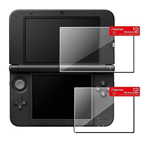 Insten 1 Set Top/ Bottom LCD Screen Protector compatible with Nintendo NEW 3DS XL / NEW 3DS LL / 3DS XL / 3DS LL