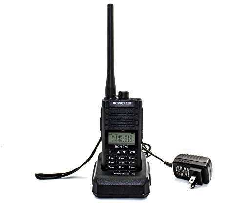 Bch-270 Dual Band Handheld Ht Ham Portable Fm Radio (2m 70cm Radio, 5w) Amateur Radio With Lcd Display, Long Range & Rechargeable Battery (Up To 12 Hours) By Bridgecom Systems