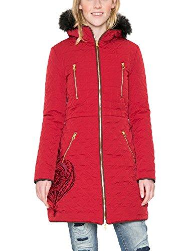 Desigual Abrig_azul, Abrigo para Mujer Rojo (Borgoña 3007)