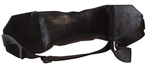 Schmale Bauchtasche / Gürteltasche / Hüfttasche in schwarz für unters T-Shirt