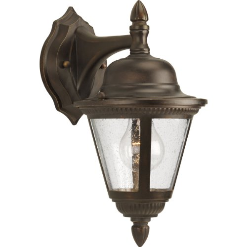 - Progress Lighting P5862-20 1-Light Wall Lantern, Antique Bronze