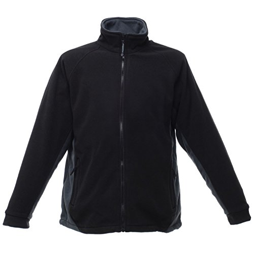 Regatta profesional Omicron II impermeable y transpirable chaqueta polar tra644Negro/Seal Gris XXX-Large