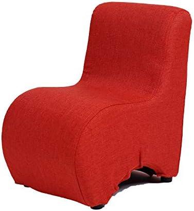 sillón infantil Sofá para niños Taburete con respaldo extraíble y lavable Cambiador de zapato para bebé adulto Asiento de tela mini de moda, rojo clásico