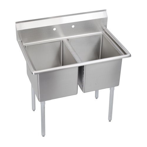 Deluxe 2-Compartment Sink, no drainboard