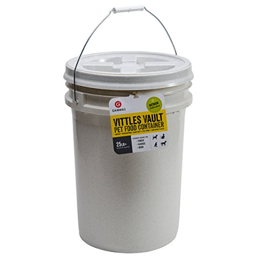 Gamma2 Vittles Vault 25 lb Airtight Bucket Container for Food Storage, Food Grade and BPA Free