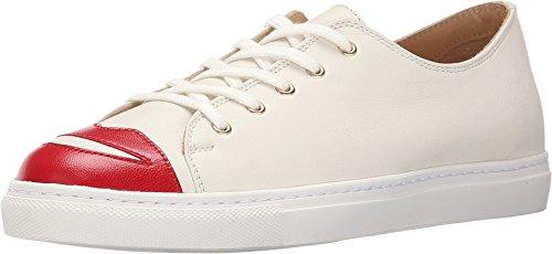 charlotte olympia Women's Kiss Me Sneakers, Off- Off-White Kidskin/Nappa 35 M
