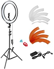 Neewer 18-inch Outer Dimmable SMD LED Ring Light Lighting Kit with 78.7 inches Light Stand, Phone Holder, Hot Shoe Adapter for Portrait YouTube, TikTok Video Shooting (No Carrying Bag)