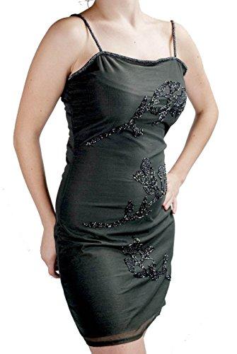Ramage Nero Elegante Perline Paillettes Mini Tubino Abito S di e Donna XxqYgAw4
