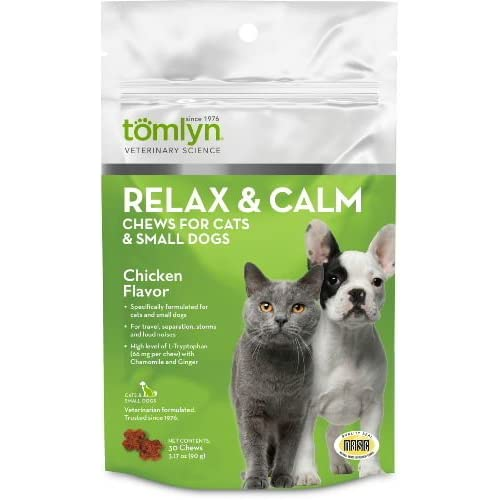 85%OFF Tomlyn Relax & Calm Chews Small Dog and Cat 30ct