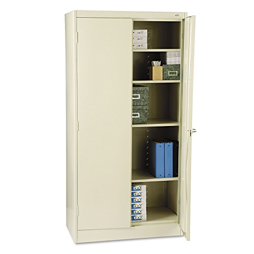 Tennsco 1470PY 36 by 18 by 72 Standard Storage Cabinet with 4 Adjustable Shelves, Putty - Safco Chrome Wire Roll File