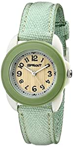 Sprout Women's ST1013LGIVLG Eco-Friendly Light Green Organic Cotton Strap Watch