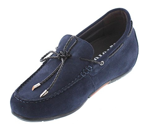 Taller inches Height Navy Casual Increasing Blue Shoes CALTO on Elevator Y45022 Slip Shoes 3 Fq4IEwtx
