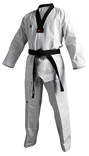 Adidas Champion II White (Black Lapel) Taekwondo Uniforms (2)