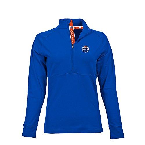 - Levelwear NHL Edmonton Oilers Women's Harmony Signature Script Half Zip, Small, Royal Blue