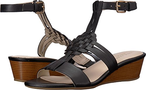 Cole Haan Women's Findra Woven Slide Wedge Sandal Black Leather 10 B US by Cole Haan
