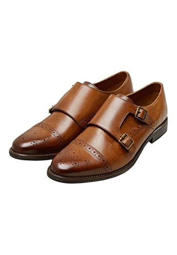 next Hombre Zapatos Monk con Tira Y Detalle Pulido Bronceado