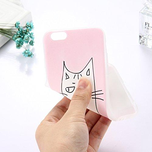 Phone Case & Hülle Für iPhone 6 Plus & 6s Plus TPU bereifte geprägte Wassermelone-Muster-schützende Fall-rückseitige Abdeckung ( Size : Ip6p5304g )
