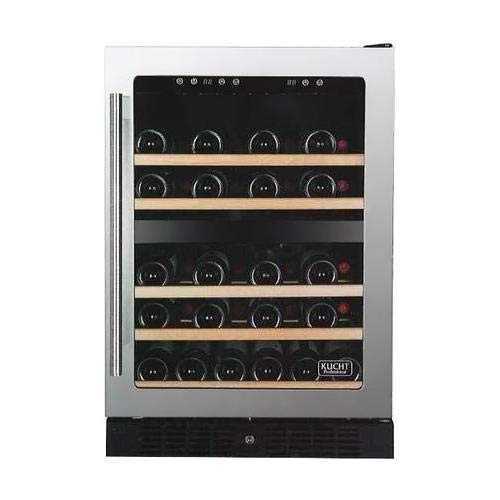 Kucht K148E12 24 Inch Built-In Dual Zone Wine Cooler with 54 Bottle Capacity, in Stainless Steel by Kucht (Image #5)