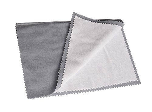 Pro Size Polishing Cleaning Cloth Pure Cotton Made in USA for Gold, Silver, and Platinum Jewelry, Watch Coins Non Toxic Tarnish Remover Large Cleaner Cloth 11 x 14 inches Keeps Jewelry Clean and Shiny