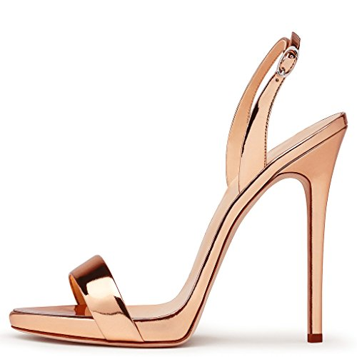 Zapatos mujer con de Q tobillo champán correa Amy Sqw5Yw