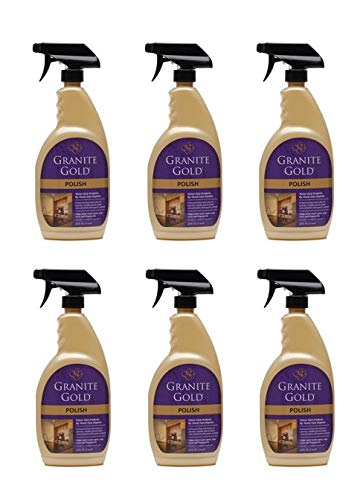 Granite Gold Polish Spray - Maintain Shine And Luster Of Natural Stone Surfaces - 24 Ounces (Pack of 6) by by Granite Gold (Image #1)