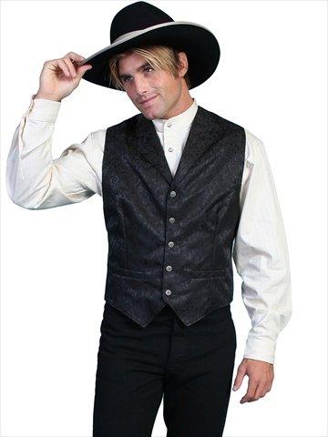 - Scully 535354X-BLK-4X-B-T Mens Wah Maker Twin City Vest - Black, 4X