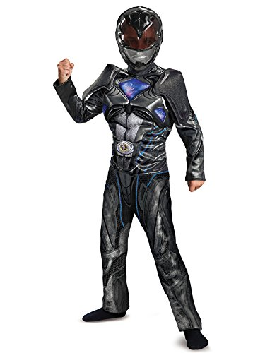 Disguise Ranger Movie Classic Muscle Costume, Black, Large (10-12) -