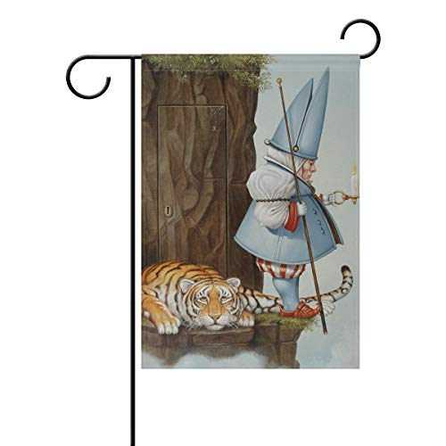 - NASEN Garden Flag Gnome Candle Tiger Modern Outdoor Decorations Home Welcome Decorative Double Sided Yard 28x40 Inches Festive