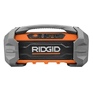 7. Ridgid R84087 GEN5X 18-Volt Jobsite Radio with Bluetooth Wireless Technology
