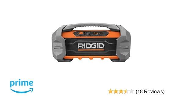 eae6717dba9 Ridgid R84087 GEN5X 18-Volt Jobsite Radio with Bluetooth Wireless Technology  - - Amazon.com