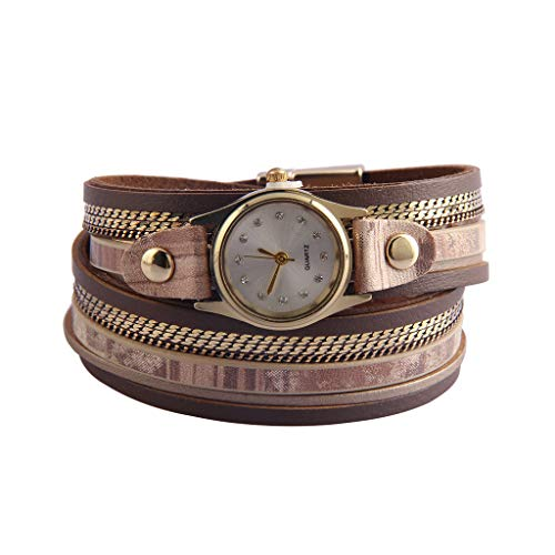 Jeilwiy Leather Boho Bracelet for Women Watch Bracelets Handmade Charm Bangle Multilayer Jewelry Teen Girls from Jeilwiy