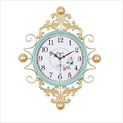 DHMHJH Wall Clock, Living Room Wall Clock - Creative Fashion Mute Clock - Simple Modern Home Wall Clock - 3D Retro Clock Easy to Read