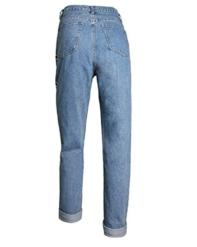 Denim Lach Casual Femme Leggings Pants Bleu Jeans Pantalons 5APPTq