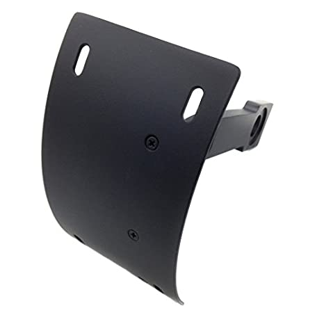 "Black Curved License Plate Relocator Frame Bracket Mount Tag Holder for 1/"" axle"