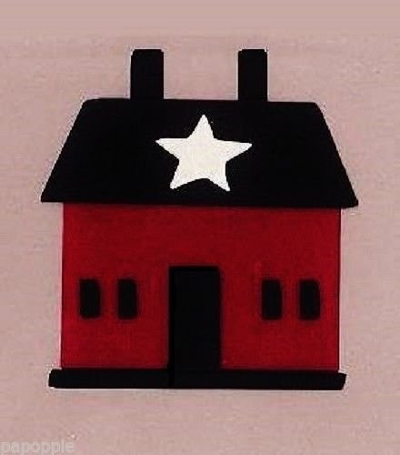 (OutletBestSelling Stencil Primitive Saltbox House Overlay Crafts Signs Country)