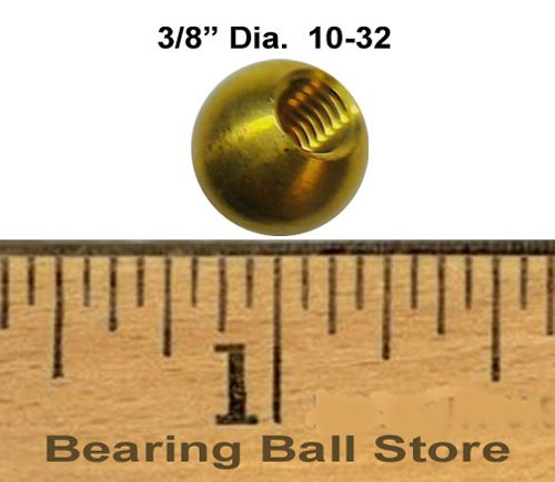 230 3/8'' 8-32 brass 10-32 brass balls drilled tapped lamp finials by Bearing Ball Store