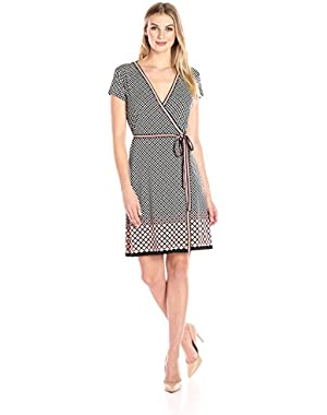 Women's Short Sleeve Wrap Dress