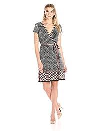 Lark & Ro Women's Short Sleeve Wrap Dress